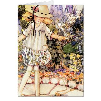 Kind im Garten Karte