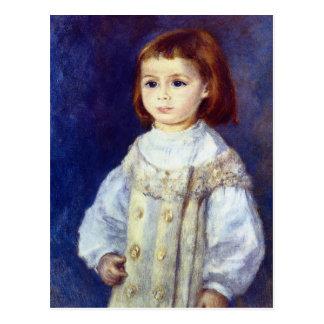 Kind im Weiß durch Pierre Renoir Postkarte