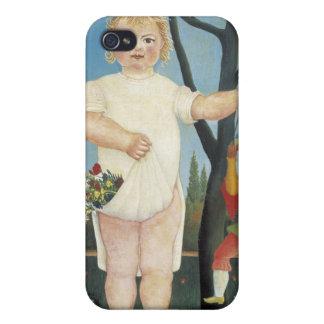 Kind mit einer Marionette - Henri Rousseau iPhone 4 Case