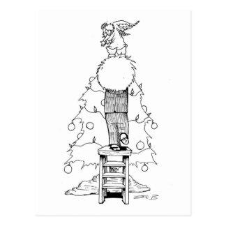 Kind und ein Weihnachtsengel - Postkarte