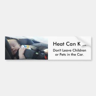 Kind verlassen in der heißen Auto-Gefahr der Autoaufkleber