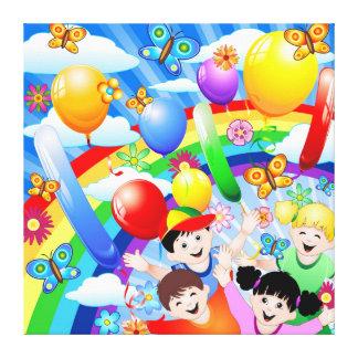Kinder alles Gute zum Geburtstag Kinder Gespannter Galeriedruck