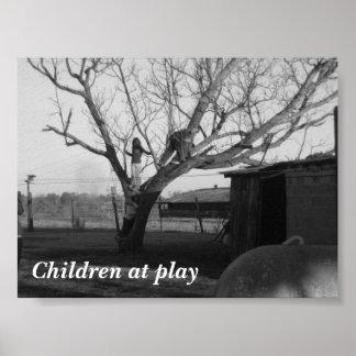 Kinder am Spiel Poster