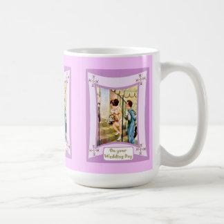 Kinder, die an einer Hochzeit teilnehmen Kaffeetasse