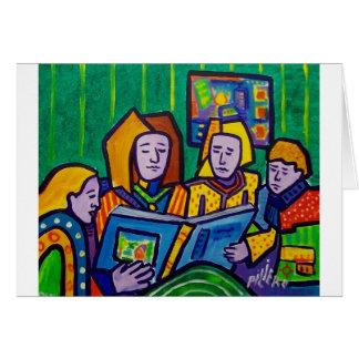 Kinder, die durch Piliero lesen Karte