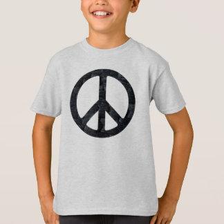 Kinder gebranntes hölzernes Friedenszeichen-Shirt T-Shirt