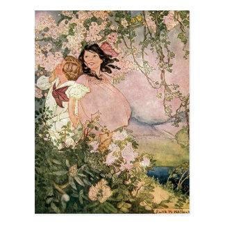 Kinder im Frühjahr durch Ruth Hallock Postkarte