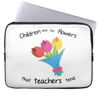 Kinder sind die Blumenlaptophülse Laptopschutzhülle