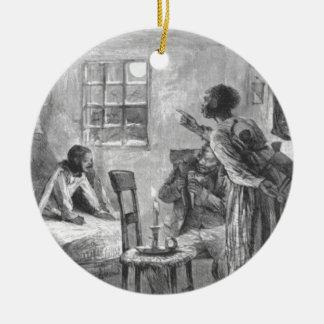 Kinder wachen weit auf Weihnachtsabend auf Keramik Ornament