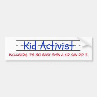 Kinderaktivisten-Autoaufkleber Autoaufkleber