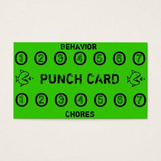 Kinderaufgaben-Lochkarten Visitenkarten