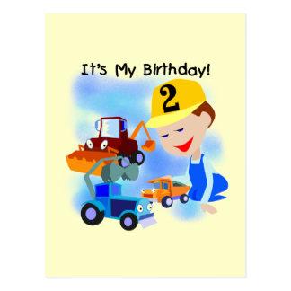 Kinderbau-2. Geburtstags-T-Shirts und Geschenke Postkarte