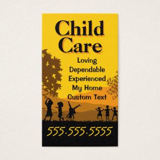 Kinderbetreuungs-Tagesbetreuung-Babysitting Visitenkarte