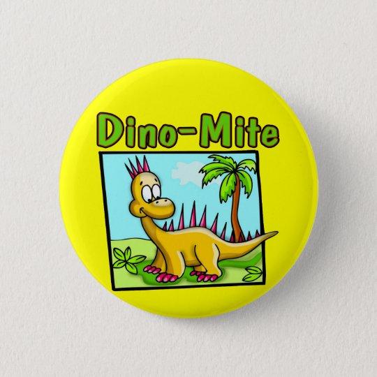 Kinderdinosaurier-T - Shirts und Runder Button 5,1 Cm