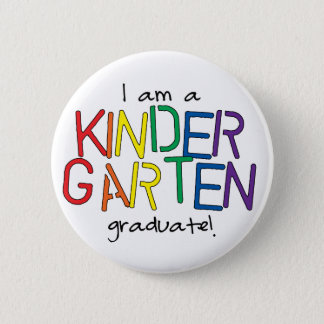 Kindergarten-graduierter Knopf Runder Button 5,1 Cm
