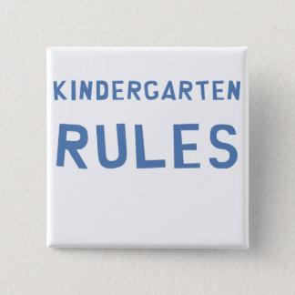 Kindergarten-Regeln Quadratischer Button 5,1 Cm