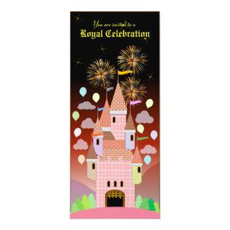 Kindergeburtstag-Einladung 029: Schloss IIB 10,2 X 23,5 Cm Einladungskarte