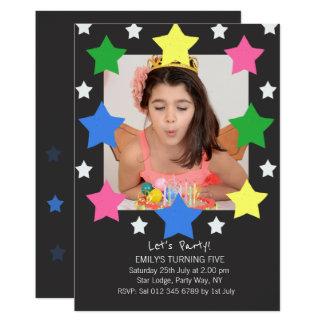 Kindergeburtstag hat | Foto-Party Einladung in der