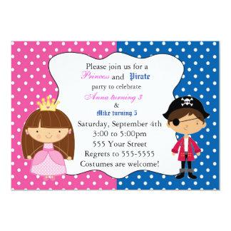 Kindergeburtstag-Party Prinzessin-Pirate 12,7 X 17,8 Cm Einladungskarte