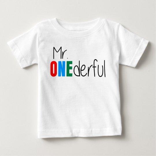 Kindergeburtstag-T-Shirt Herr-Onederful Wonderful Baby T-shirt