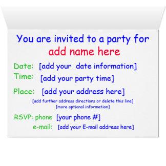 Kindergeburtstags-Party Einladung