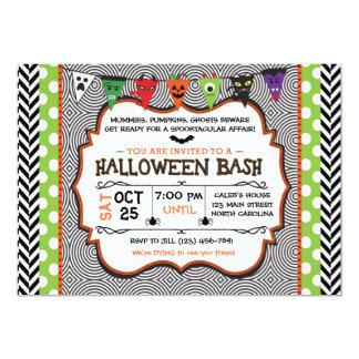 KinderHalloween-Party-Einladung, Geburtstag laden Karte