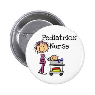 Kinderheilkunde-Krankenschwester-T-Shirts und Gesc Runder Button 5,1 Cm