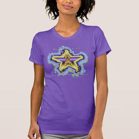 Kinderkrebs-Wunsch-Stern-Damen-Nano-T - Shirt