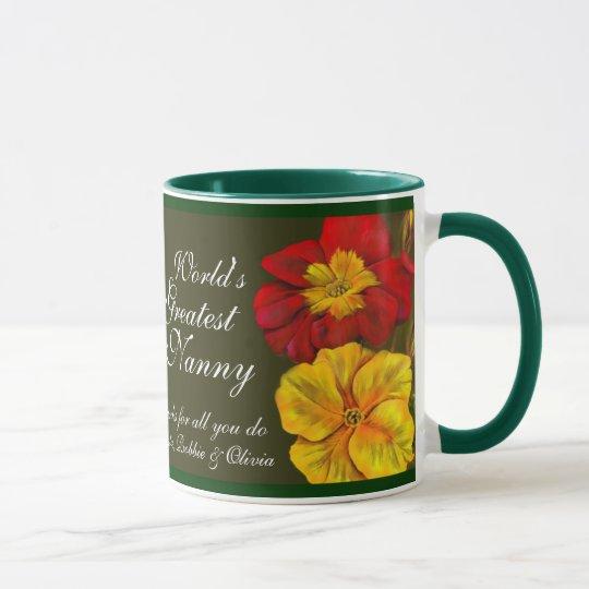 Kindermädchen-Tasse mit Blumenwelt feine Kunst des Tasse