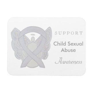 KinderMissbrauch-Bewusstseins-weiße Band-Magneten Magnet