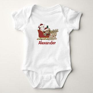 Kinderpersonalisierter WeihnachtssanktSleigh Baby Strampler
