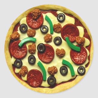 Kinderpizza-Geburtstags-Party Runder Aufkleber