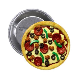 Kinderpizza-Geburtstags-Party Runder Button 5,7 Cm