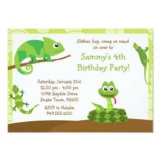 Kinderreptil-Geburtstags-Party Einladung
