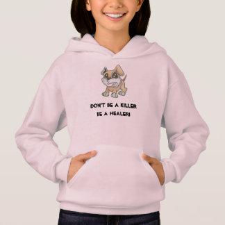 Kinderrosa Sweatshirt - TOWT Maskottchen-Hund