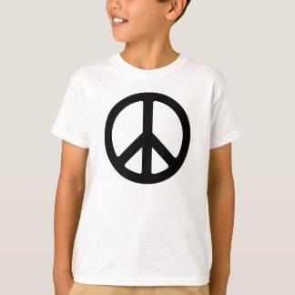 Kinderschwarzes Friedenszeichen-Shirt T-Shirt