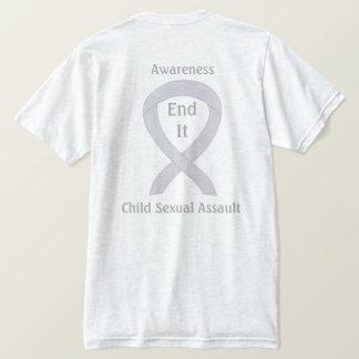 Kindersexueller Angriffs-Bewusstseins-Band-T - T-Shirt