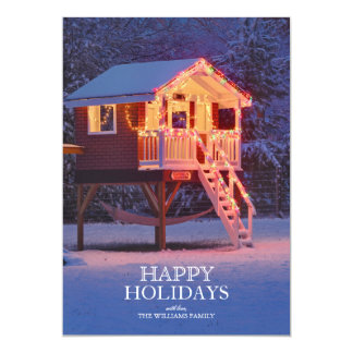 Kindersschauspielhaus mit Schnee und 12,7 X 17,8 Cm Einladungskarte