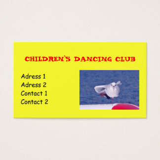 Kindertanzen-Verein-Visitenkarten Visitenkarte