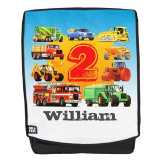 Kindertauscht 2. Geburtstags-Bau individuellen Rucksack