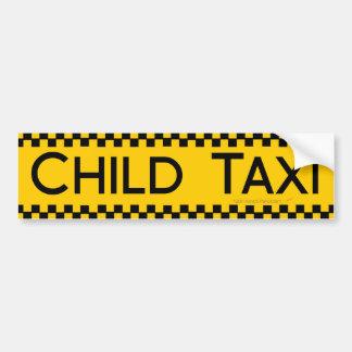 Kindertaxi-lustiger Entwurf für das Fahren der Vät Autoaufkleber