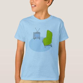KinderVintager Retro Fernseh- u. -stuhl-Entwurf T-Shirt