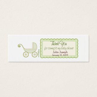 Kinderwagen - Dank-Bevorzugungs-Umbau Mini Visitenkarte