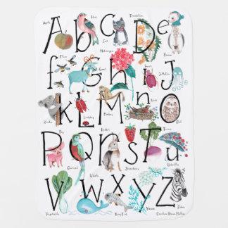 Kinderwagen-Decke ABC-Alphabet-| Kinderwagendecke