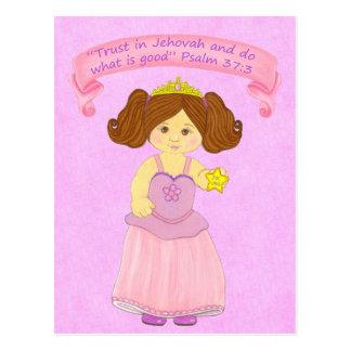 Kinderweg in Truth~Princess~Scripture Postkarte