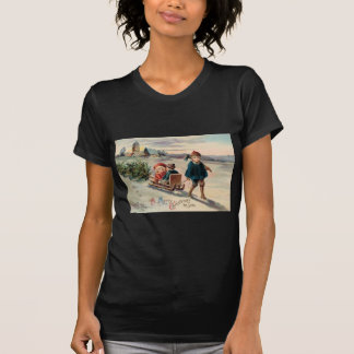 Kinderweihnachtsbaum-Schlitten-Pferdeschlitten Hemden
