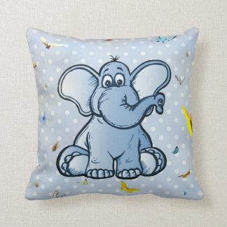 Kinderzimmer-Elefant und Schmetterlinge Kissen
