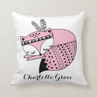 Kinderzimmer-Geschenk rosa BabyFox Stammes- Kissen