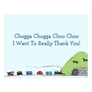 Kinderzug Choo Choo danken Ihnen Postkarten