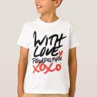 Kindes mit Liebe, T - Shirt Philadelphias XOXO